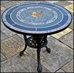 Ammonite Mosaic Table